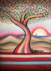 Oltre l'Albero è di Giovanni Firrincieli - Pastelli su cartoncino