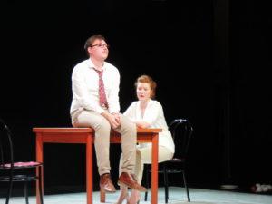 Michele Brasilio e Marina Cioppa durante Semi -peccato, non esiste più l'amore platonico_Compagnia_Vulìe Teatro_Caserta