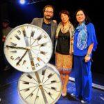 Da sx a dx Vittorio Bonaccorso, regista, Maria Greco autrice e Federica Bisegna che si è occupata dei costumi di scena