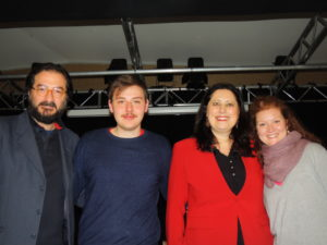 Da sx a dx, Vittorio Bonaccorso, Michele Brasilio, Federica Bisegna e Marina Cioppa
